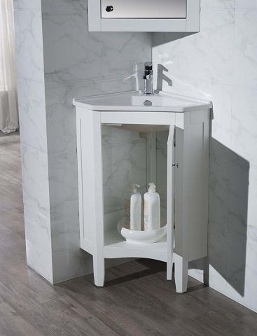 corner bathroom vanities the ultimate space saving solution for a rh pinterest com