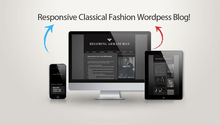Custom Armani Wordpress Fashion Blog