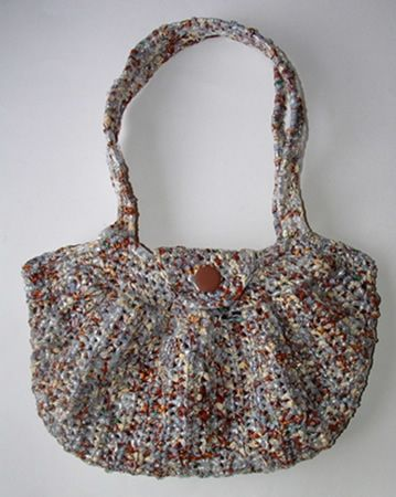 8 best Plarn (recycled plastic bags) images on Pinterest   Recycled ...