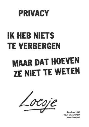 Loesje wil privacy