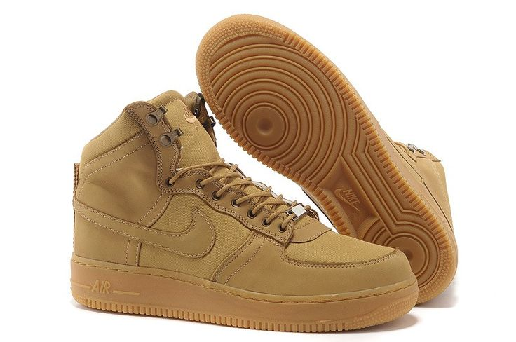 premium selection aa23a a17f5 ... Heren nike air force 1 high top schoenen camel suede   schoenen    Pinterest   Nike  Air Jordan ...