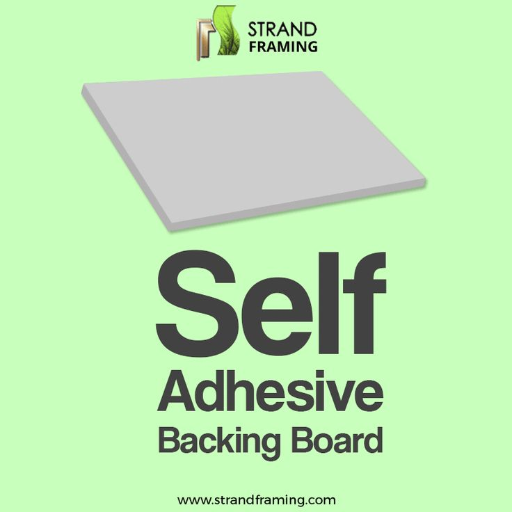 Self Adhesive backing boards, not just keep the #Picture in place, but have many other advantages as well. This short #GIF from Strand Framing Ltd shall show the reasons to have a quality #BackingBoard.