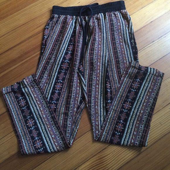 "Tribal print pants Tribal print pants - polyester but feels like silk! 28""inseam 14"" waist Pants"