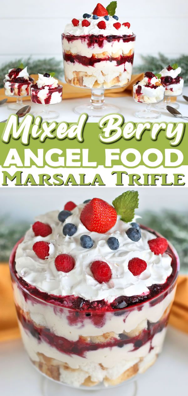 Easy Mixed Berry Trifle With Angel Food Cake Better Living Recipe Light Desserts Angel Food Angel Food Trifle