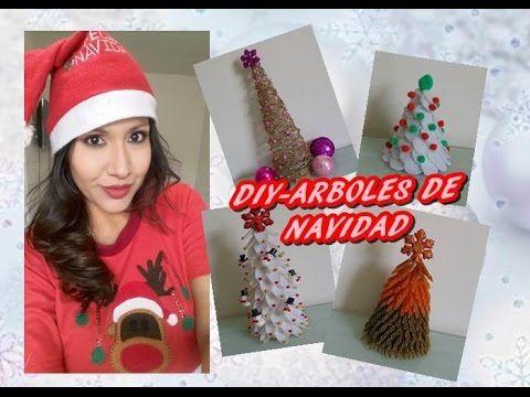 """4 DIY - ARBOLES DE NAVIDAD """" CHRISTMAS TREE """""""