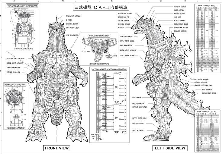 Concept Art- Godzilla Tokyo SOS -Kiryu/ Mechagodzilla