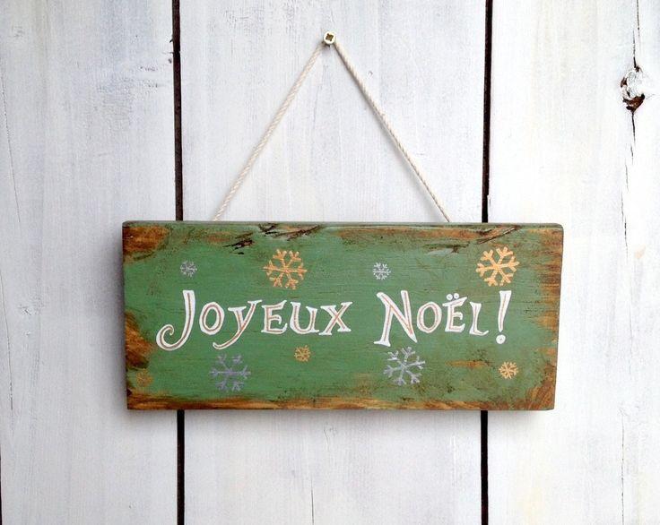 Plaque décorative de Noël personnalisable en bois de palette : Accessoires de maison par littlepalette