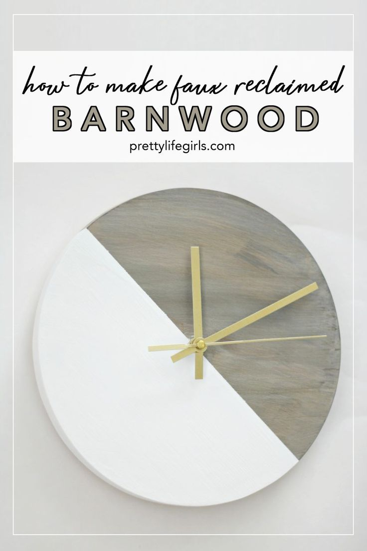 Diy Rustic Reclaimed Barnwood Clock In 2020 Reclaimed Barn Wood Rustic Diy Barn Wood Decor