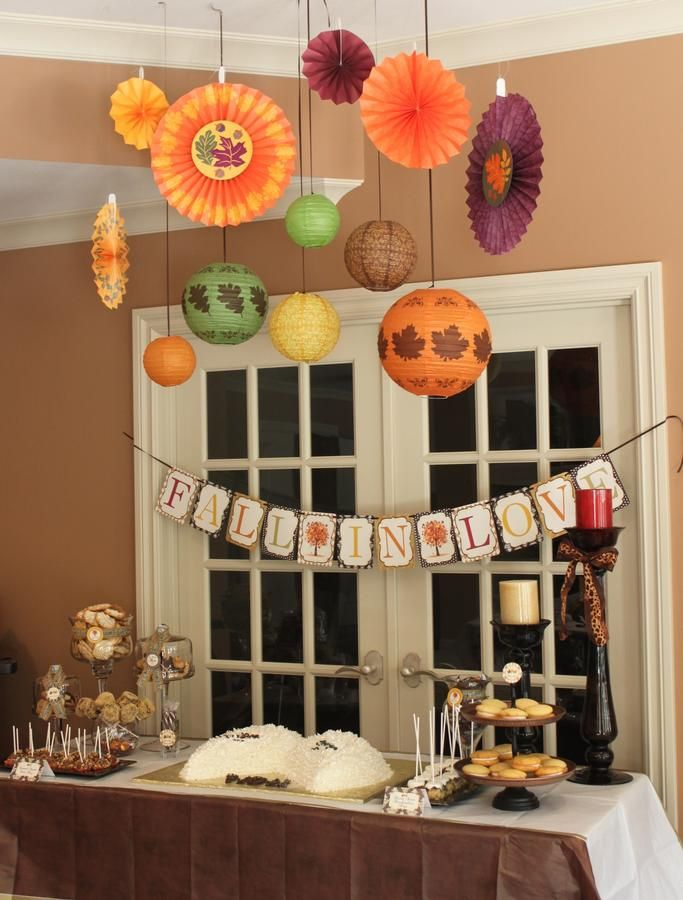 fun ideas for bridal shower themes%0A fall wedding shower theme