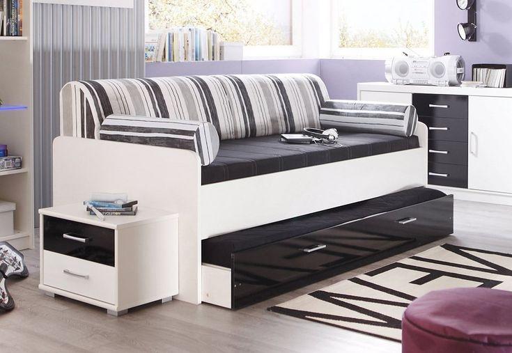 Bett, Made in Germany für 249,99€. Made in Germany, Mit ausziehbaren Schubkasten, Einlasstiefe für Lattenrost verstellbar bei OTTO