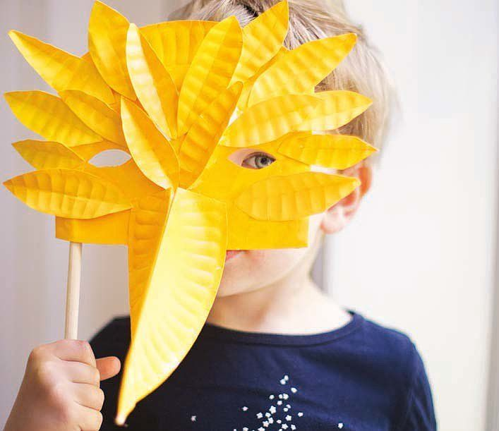 Paper Plate Mask Projects For Kids from new book Paper Goods Projects| POPSUGAR Moms