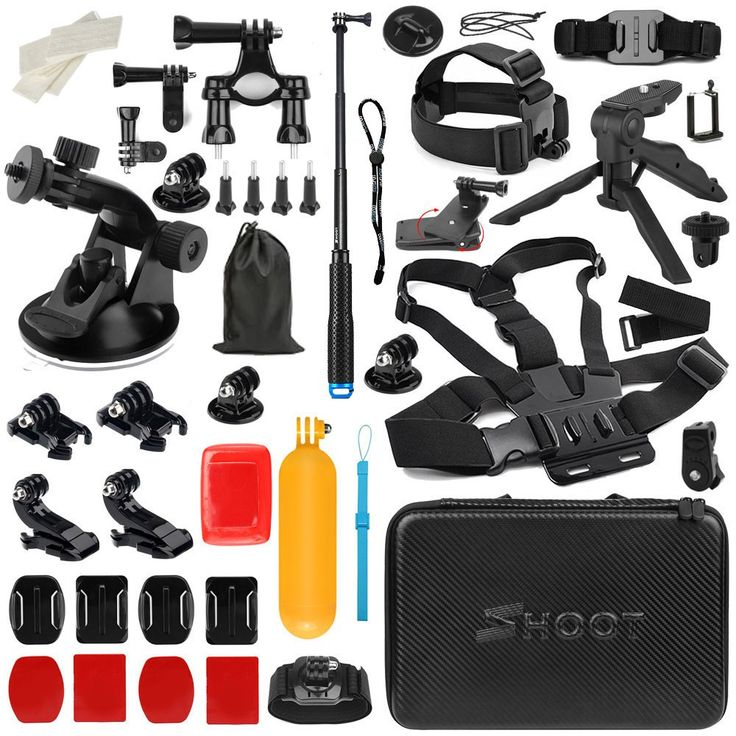 Buy US $49.80  SHOOT For GoPro Accessories Set Basic Mount for Go Pro Hero 6 5 4 Sony Xiaomi Yi 4K SJCAM SJ5000 SJ7 Eken H9 Action Camera Kits  #SHOOT #GoPro #Accessories #Basic #Mount #Hero #Sony #Xiaomi #SJCAM #Eken #Action #Camera #Kits  #Internet