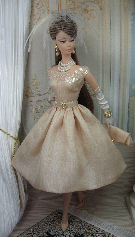 Windswept for Silkstone Barbie and Victoire by Vestido y complementos de seda MatisseFashions