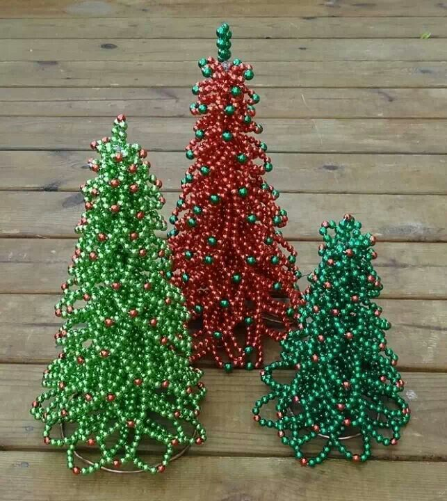 Wire and bead trees - Mom would LOVE these but in pink :)