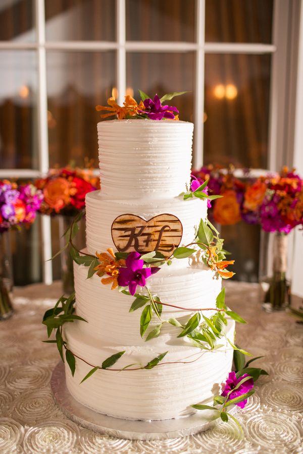 Floral wedding cake. Photo by Amanda Hedgepeth Photography.