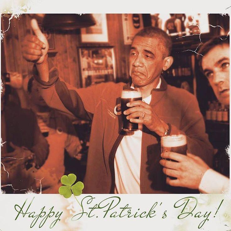 Happy Paddy's Day!!!♣ #everyonesirishtoday #letsdrink #sláinte #stpatricksday #paddysday #láfhéilepádraig #topothemornin #guinness #slainte #march17 #shamrock #pints #cheers #shenanigans #barackobama #2017 #instalike #instalikes #booze #wine #beerlovers #irish #ireland #theluckoftheirish #whiskey #eire ♣