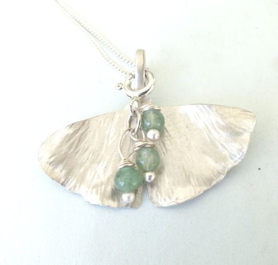 Sterling Ginkgo Biloba Leaf Necklace by Artistic925Jewellery