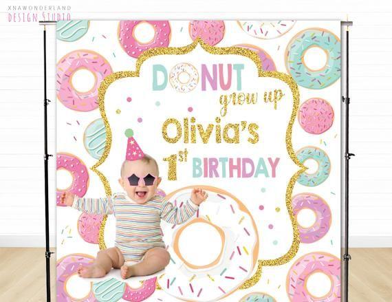 Donut Wall Donut Birthday Party Donut Birthday Donut Decor Donut Donut Party Donut Theme 24 Gold Custom Wall Sign Donut Grow Up