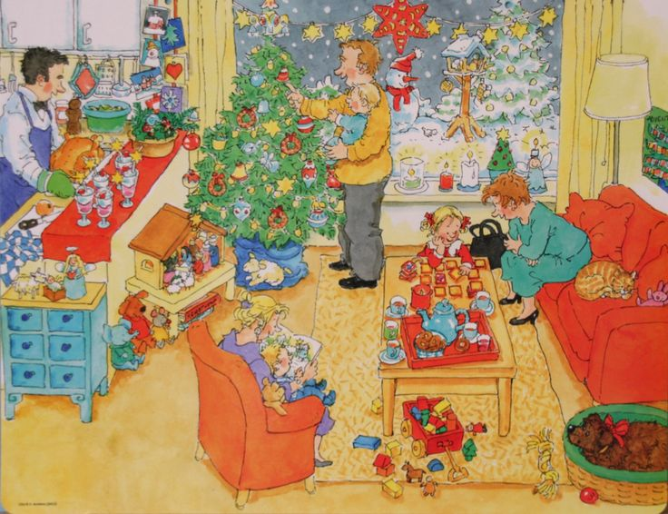Praatplaat Bas - Kerstmis (getekend door Dagmar Stam)