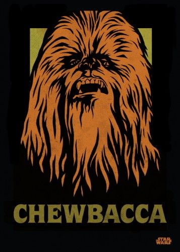 Star Wars Chewbacca metal poster - PosterPlate posters made out of metal
