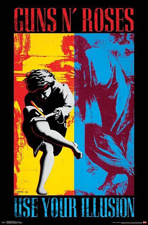 Guns N Roses Use Your Illusion I & II Music Poster Print Slash Axel New 22x34