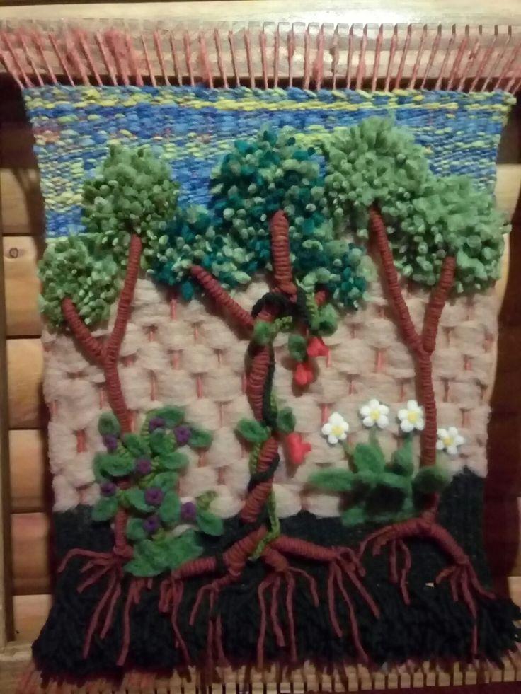 Telar decorativo árboles