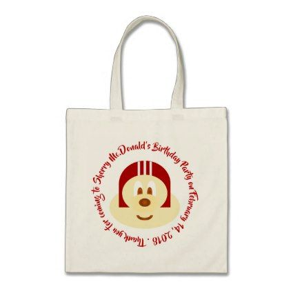 Red Helmet 鮑 鮑 - Birthday Souvenir Tote Bag 2 - birthday gifts party celebration custom gift ideas diy