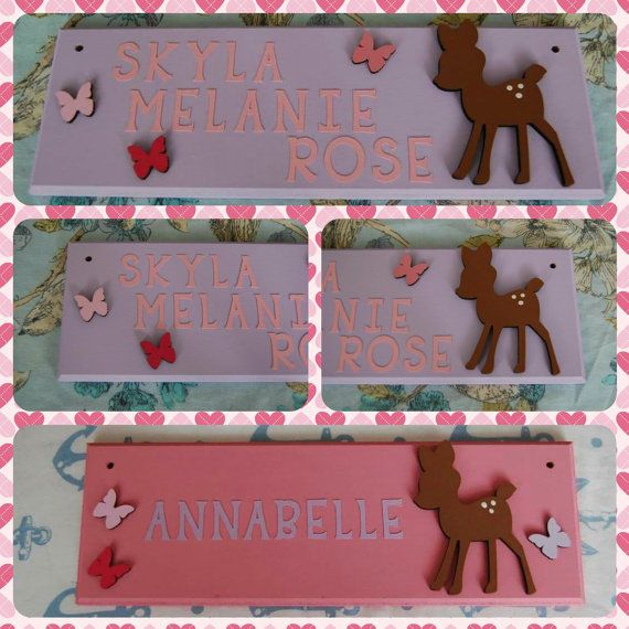 Deer Personalised Children's Bedroom Door Name by FairylandDecor