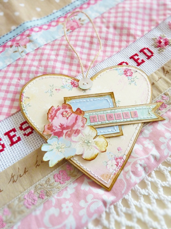 Heart Tag: Heart Tags, Cardmaking Tags, Cards Pap, Valentines Heart, Pretty Heart, Angel Heart Ang, Beautiful Handmade Cards, Things Shabby, Shabby Heart