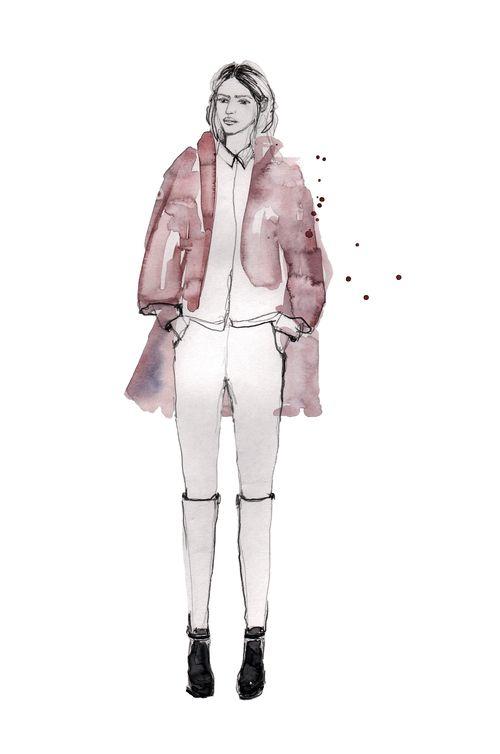 Sarah  #illustration #painting #watercolor #fashion #drawing #streetstyle