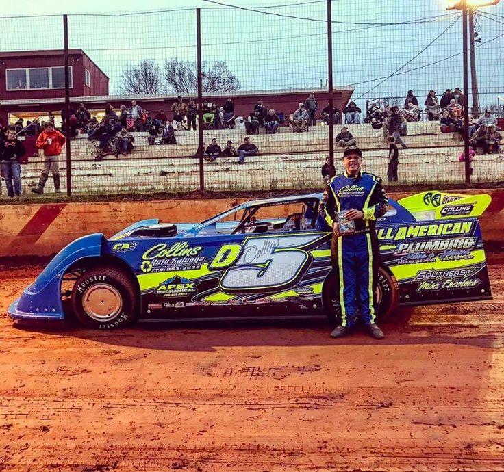 Drew Collins 2017 Hartwell GA Dirt track racing, Race