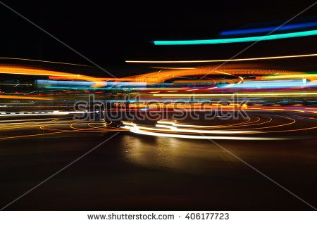 Colorful Abstract Light Trails