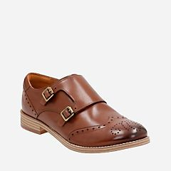 Zyris Vienna Dark Tan Leather - Women's Casual Shoes - Clarks® Shoes Official Site