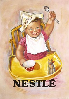 Nestle Chocolate Poster Plakat 1930s