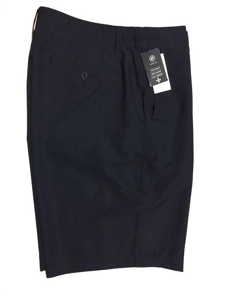 Hang Ten Mens Cruze Stretch Walking Skate Shorts Lightweight Quick Dry 36 Black #HangTen #WalkingSkate