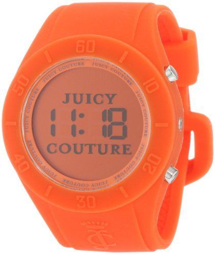 Juicy Couture Women's 1900883 Sport Couture Digital Orange Jelly Strap Watch Juicy Couture. $70.59. Hour/minute, seconds and date function; adjustable strap. Oversized sport case and strap. Water-resistant to 99 feet (30 M). Digital watch. Pop of color. Save 26%!