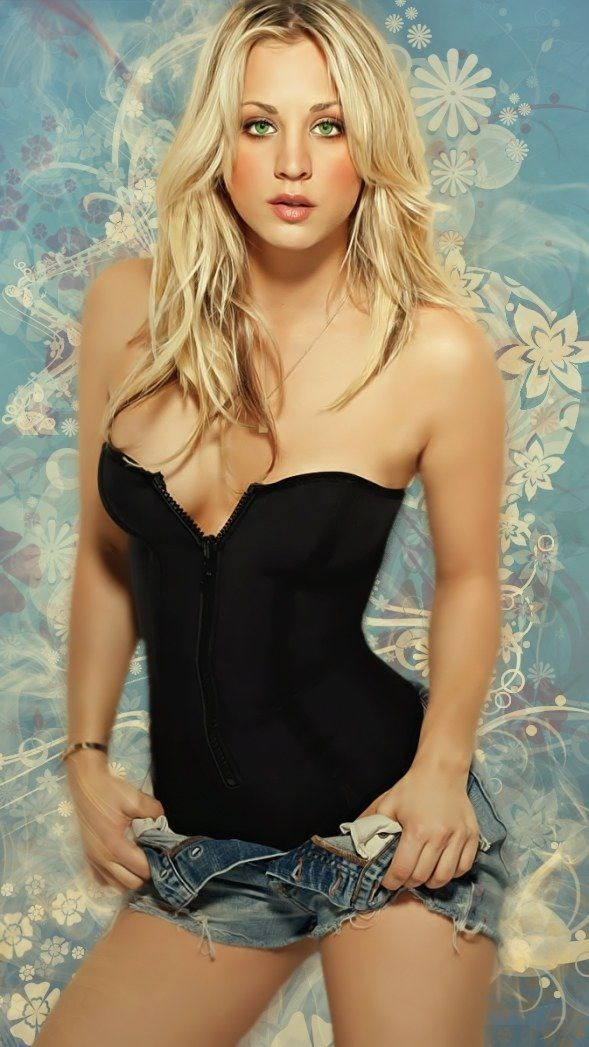 Kaley Cuoco, even if all I could see was her face, I would pin this to pin ups, because she is so beautiful.