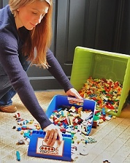 Scoop up legos & little toy pieces!!    Toy Storage ideas- by Personal Organizer/Lifestyle Expert Staci Krell 212.714.8005 NY-NJ-CT www.stacikrell.com