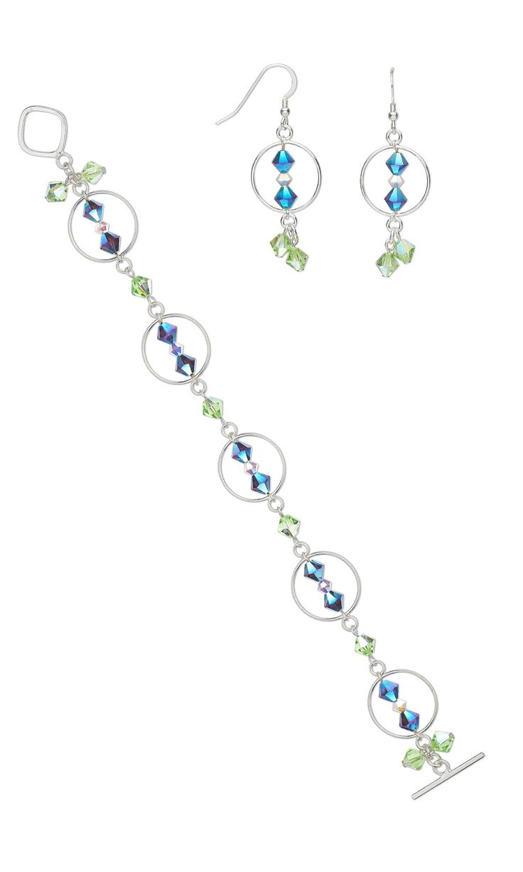 Jewelry Design Ideas find this pin and more on jewelry design ideas Jewelry Design Bracelet And Earring Set With Swarovski Crystal Beads And Sterling Silver Links