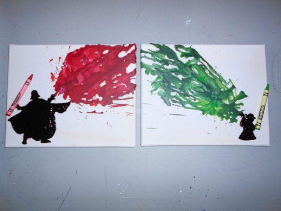 Star Wars inspire colorie fondu Art peintures par OnceUponACrayon