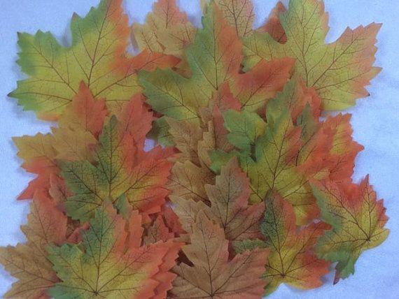 25 artificiale acero Autumn Leaves autunnali foglie giallo