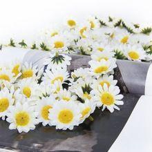 EWS Приблизительно 100 шт. Весенние цветы Ромашки искусственный Искусственный Гербера Дэйзи Цветы Головки для DIY Свадьба украшения(China (Mainland))