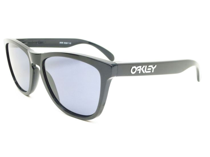 Oakley Frogskins 24-306 Polished Black Sunglasses
