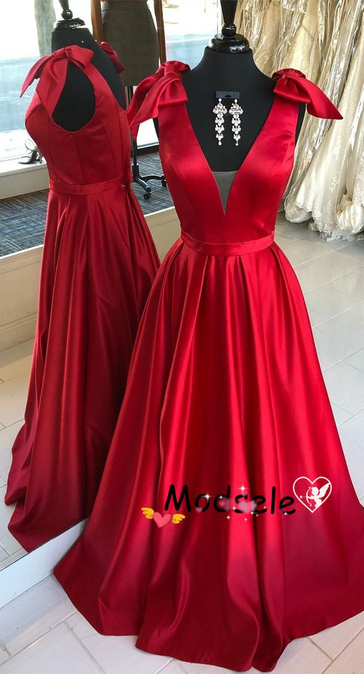 Elegant prom dress long prom dress red prom dress prom dress