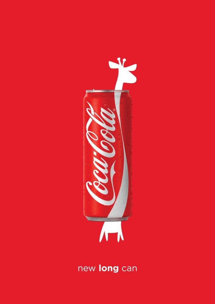Case: Giraffe 中東のレバノンでコカ・コーラが実施した洒落たプリント広告をご紹介。  商品デザイン(パッケージデザイン)を巧みに生かしたクリエイティブがこちらです。    コ