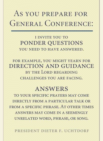 Help Preparing for General Conference!