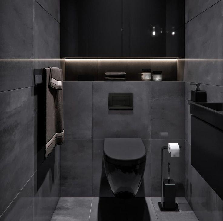 Wunderbar Ein Schwarzes Badezimmer Ist So Stylisch Own Home And Garden Designw Badezi Badezi Badezimmer In 2020 Schwarzes Badezimmer Wc Design Badezimmer
