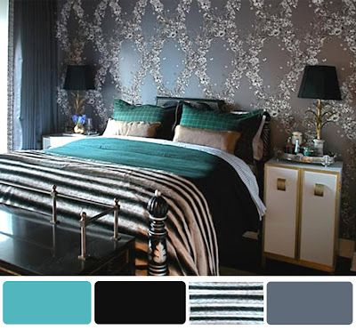 black and turquoise bedroom walls ideas