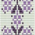 Схема широкого браслета с ажурным орнаментом ткачество бисером