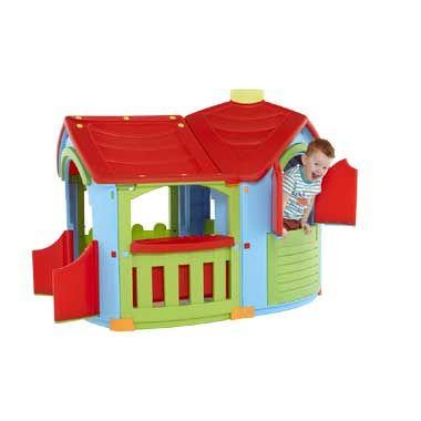 Speelhuis Villa - rood/groen/blauw | Bart Smit